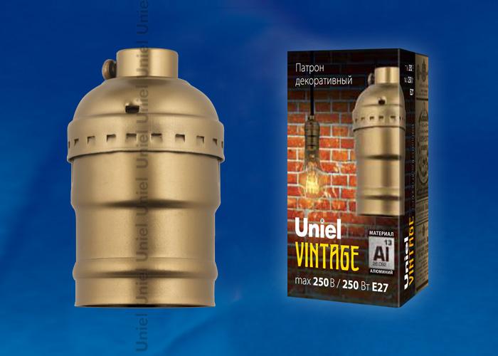Патрон декоративный Е27 VINTAGE DLC-V-H01/Е27 BRONZE, Uniel (UL-00000531) – купить в СПб, низкая цена с доставкой