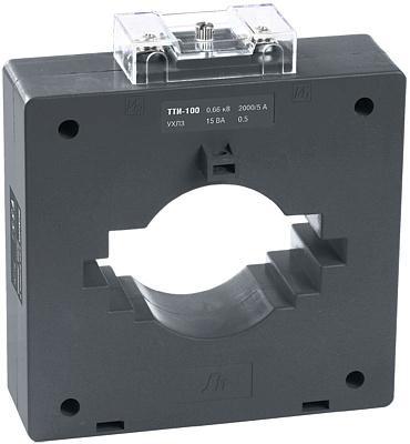 Измерительный трансформатор тока 1500/5 ТТИ-100, без шины, 15 ВА, IEK (ITT60-2-15-1500)